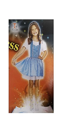 [Enchanted Princess Character Apron - One size fits child size 4-8 - Blue and Silver] (Witty Costumes 2017)