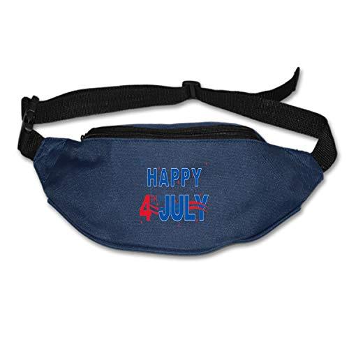 - Blair Louisa Lightweight Waist Bag Happy 4th July Fanny Pack/Bum Bag Adjustable Belt Strap Runner, Cyclist, Outdoor Sports