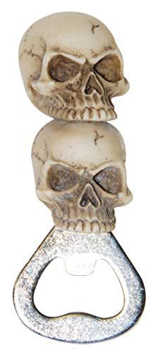 Resin and Metal Stacked Skulls Bottle Opener, 3