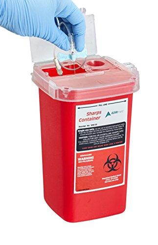 AdirMed Sharps & Needle Bio-Hazard Disposal Container 1 Quart - 1 Pack by Adir Med (Image #2)
