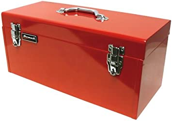 BK00120920 Black Homak 20-Inch Steel Flat-Top Toolbox with Removable Tray