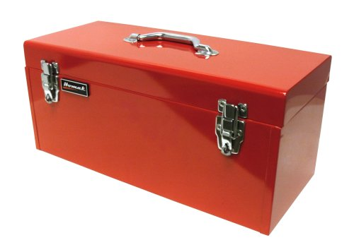 (Homak 20-Inch Steel Flat-Top Toolbox with Removable Tray, Red, RD00120920)