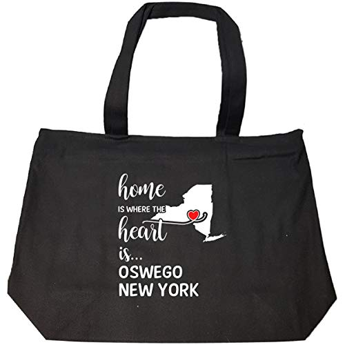 Oswego County New York Is Where My Heart Is Gift - Tote Bag With Zip