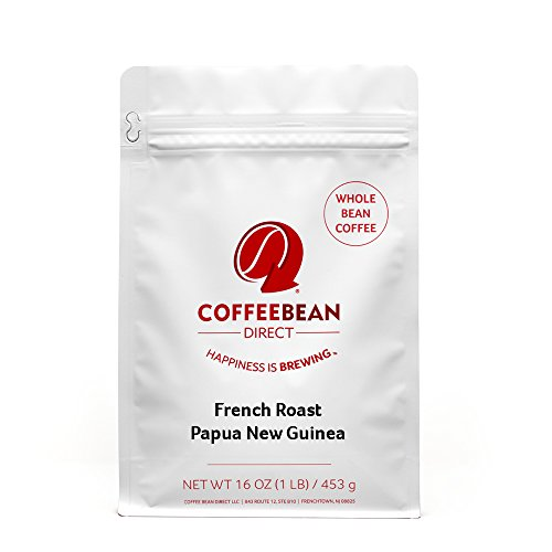 Coffee Bean Direct French Roast Papua New Guinea, Whole Bean Coffee, 16-Ounce Bag