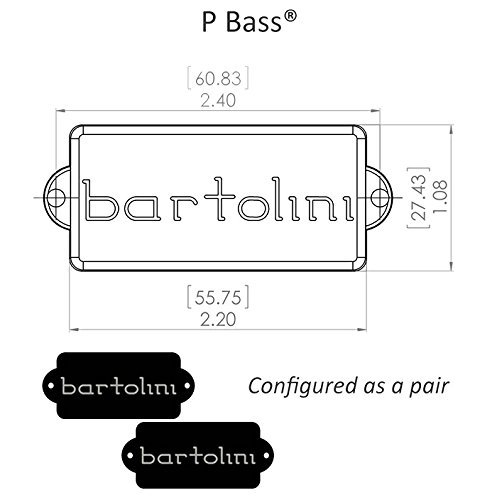 Bartolini 8S Precision P-Bass 4-String Replacement Pickup NEW