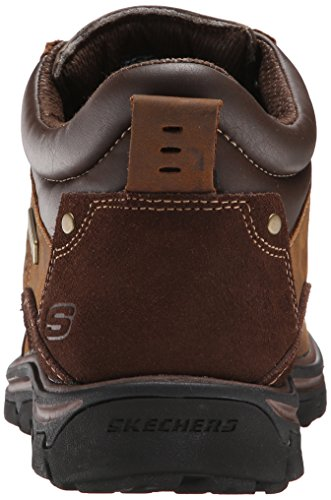 Skechers Segment melego, Scarpe Stringate Uomo Dark Brown