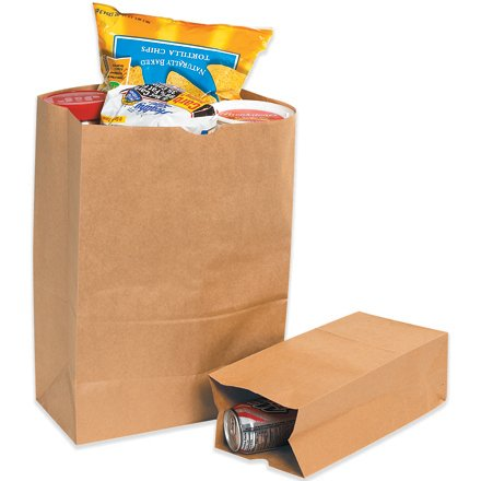 Box Partners BGG120K 12 in. x 7 in. x 21.75 in. Kraft Grocery Bags B002OALH1U