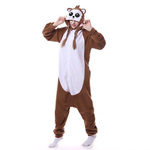 Unisex Adult Animal Pajamas Custome Cosplay for Halloween Christmas (Small, Baboon)]()