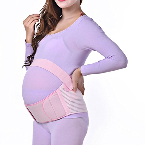 Zhhlaixing Cinturón de maternidad Comfortable Maternity Belt Pregnancy Support Waist Back Abdomen Belly Band Prenatal Black