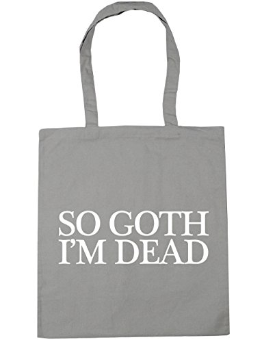 10 Grey goth So Shopping Gym Light Bag dead Tote I'm 42cm x38cm HippoWarehouse litres Beach WPXnf6pW5