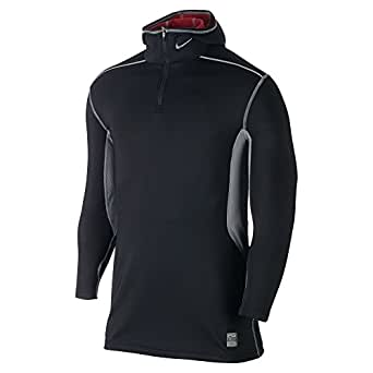 Nike Men's Pro Hyperwarm Fitted Dri-FIT Max Athlete Hooded Top, Black, X-Large
