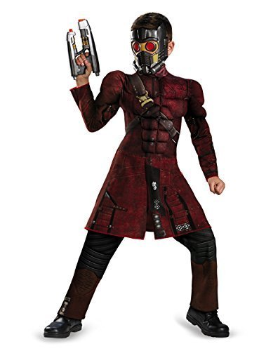 Disguise Marvel Guardians of The Galaxy Star-Lord Classic Muscle Boys Costume, Large/10-12