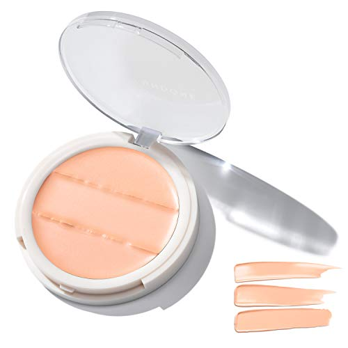 3-in-1 Cream Concealer & Highlighter. Natural Coconut for Dewy Glow - UNDONE BEAUTY Conceal to Reveal. For Blemishes, Tattoos, Under Eye Circles & Wrinkles. Vegan & Cruelty Free. PINK PETAL LIGHT