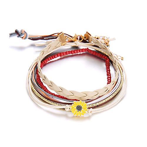 choice of all 3 Pcs Summer Surfer Wave Bracelet Adjustable Friendship Bracelet Handcrafted Jewelry Women -