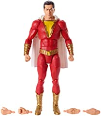 """Fans and collectors will love this highly detailed 6"""" DC action figure from the Shazam! movie. The lead character has 21points of articulation, his iconic battle suit, authenticstyling, and a signature accessory. The action figure also incl..."""