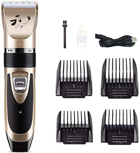 KRY Dog Clippers, Professional Rechargeable Cordless Low Noise Pet Grooming Kit, Dog Hair Trimmer Electric Shaver Kit…
