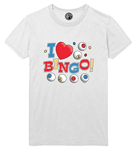 I Love Bingo Colorful Printed T-Shirt - White - 2XLT