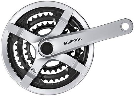 170 mm, with chainguard 48-38-28 teeth Shimano Crankset FC-TY501 6//7//8-speed