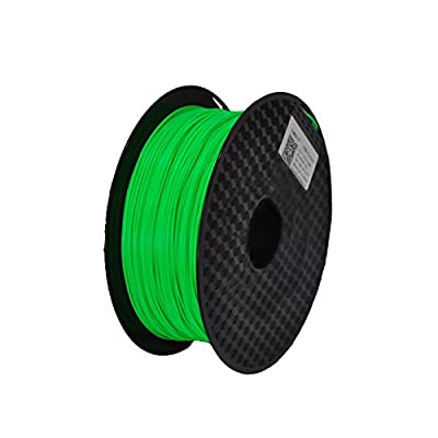 JURUI 3D Printing Filament PLA 1kg 1.75 Fluorescent Green 3D Printer Filament PLA, Dimensional Accuracy +/- 0.05 mm, 1 kg Spool(2.2 lbs), 1.75mm