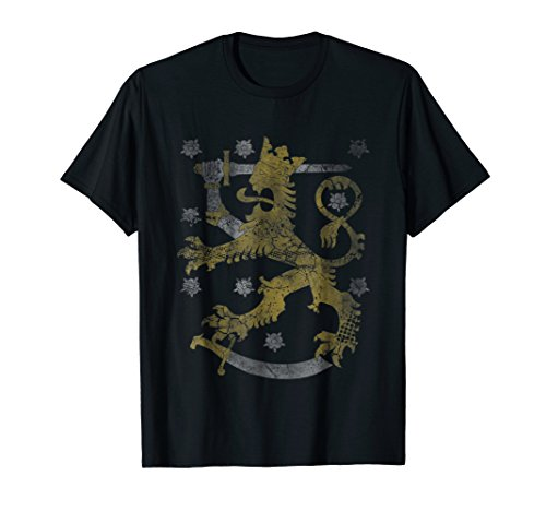 Finland T-Shirt Coat of Arms Shirt Gift (Finnish Of Arms Coat)