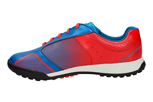 Clarks Off Side- Boy's Football inspired Sports Shoes in Blue/Green Red Combi