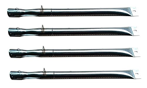 Hongso SBB411 (4-Pack) Stainless Steel Gas BBQ Grill Replacement Grill Pipe Tube Burners for BBQ Grillware, Broilmate, Charmglow, Master Forge, Perfect Flame Lowes, Presidents Choice, Sterling, Lowes