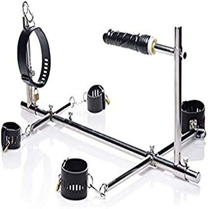 Dildo + bondage handcuffs and BDSM furniture for bondage and SM