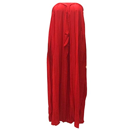 Jupe Pure Demi De Femme Rtro Longue Red Vintvage Femme Couleur New Jupe pour Plisses qTxpwq1