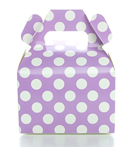 Party Favor Candy Boxes, Purple Polka Do - Elegant Purple Box Shopping Results