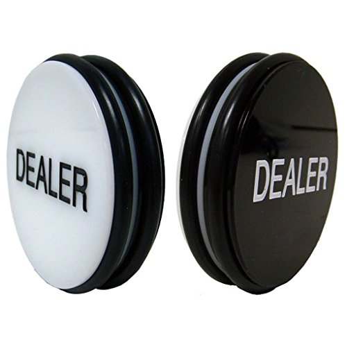 GSE Games & Sports Expert Double-Sided Casino Grade Acrylic Poker Dealer Puck Button, 3 Inch Diameter