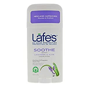 Lafe's Deodorant Stick, Lavender & Aloe, 2.25 Ounce (Packaging May Vary)