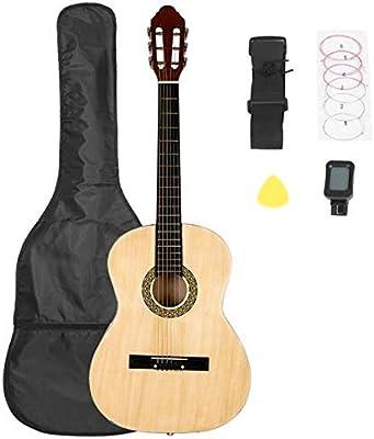 Sanhezhong Guitarra Folk de 38 pulgadas con bolsa, tablero ...