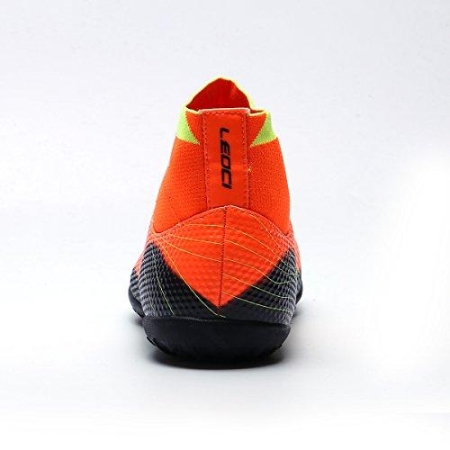 ASHION Scherzt hohe Knöchel-Fußball-Aufladungen neue TF-Fußball-Bügel für im Freienrasen-Qualitäts-Mann-Fußball-Schuhe Naranja