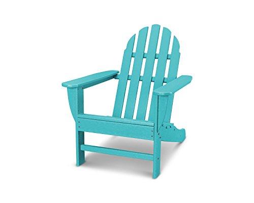 POLYWOOD AD4030AR Classic Outdoor Adirondack Chair, Aruba (Chairs Aderondack)