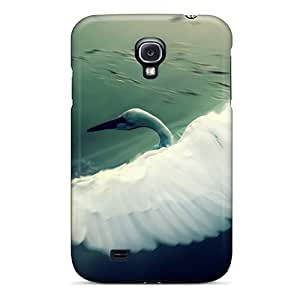 New YMmAWmB916zflnN White Swan Wings Tpu Cover Case For Galaxy S4