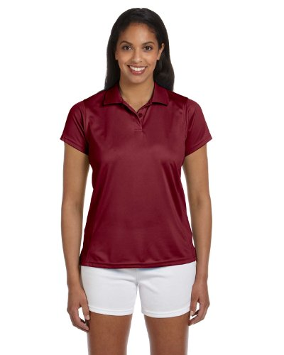 Ladies' Polytech Polo, Maroon, XL