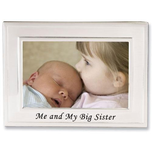 Lawrence Frames Big Sister Silver Plated 6x4 Picture Frame - Me And My Big Sister Design