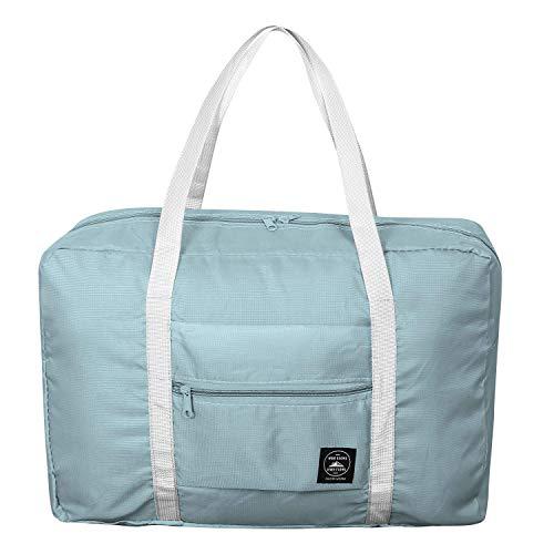 (Foldable Duffel Bag for Women and Men-Blue, Heylian Lightweight Waterproof Luggage Travel Bag)
