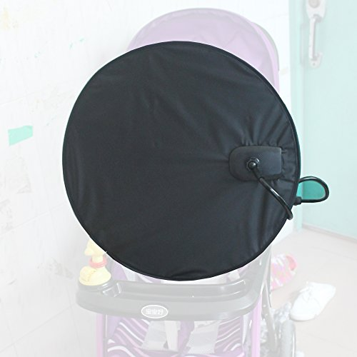 Stroller Sunshade - YYST Baby Stroller Sunshade Baby Stroller Umbrella Sun Shield Baby sunshade Pushchair Sunshade with Clamp Clip (NO Stroller)