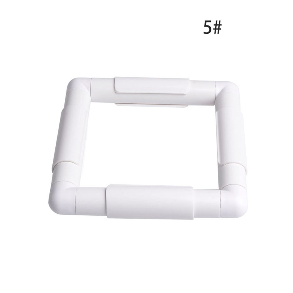 Dairyshop Square Rectangle Clip Plastic Embroidery Frame Cross Stitch Hoop Stand Lap Tool 15.2x15.2cm
