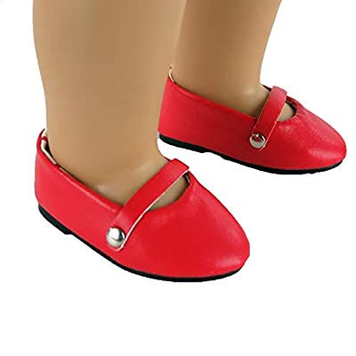 18 Inch Red Ballet Flats -Fits 18