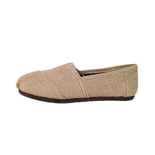 Basse Unita Tinta Scarpe Unisex Dooxii Slip Flats Espadrillas beige Uomo Moda Scarpe Durevole on Donna Casuale Loafers 4WSwqT1Wn