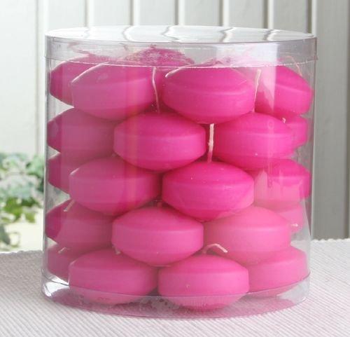 34er Dose Schwimmkerzen mit langer Brenndauer, Pink