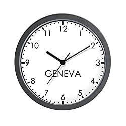 CafePress Geneva Modern Newsroom Wall Clock Unique Decorative 10 Wall Clock
