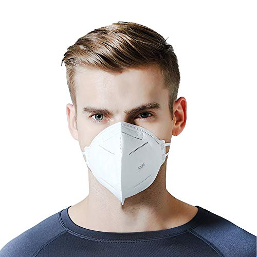 Anti Pollution Mask KN95 mask 10PCS Anti PM2.5 Protection Dust Pollution Mask 6-Layer Protective Mask Respirator for Man and Woman