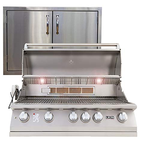 Lion Premium Grills 40″ Natural Gas Grill L90000 with Made in USA 30″ Double Door Package Deal