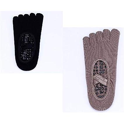 Lizes Calze sportive antiscivolo in cotone con cinturino incrociato in cotone a cinque dita
