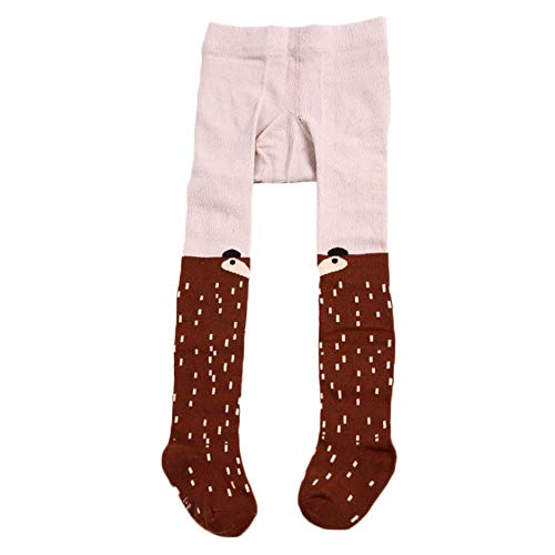 Baby Toddler Girls' Cotton Stretch Seamless Tights Cute Pattern Leggings Pantyhose Stockings for Infant (Brown, 0-1Y) ()