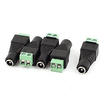 Adaptador de enchufe RCA macho Conector eDealMax 5pcs de AV/CCTV ...