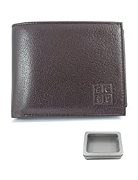 COLLAR AND CUFFS LONDON - HIGH QUALITY Multi Function Leather Wallet - Genuine Textured Leather - Two Note Sections - Seven Card Slots - Coin Compartment - Photo ID - Oak Brown - Slim - With Gift Tin